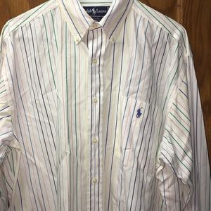 Ralph Lauren Men's White 100% Cotton Dress Shirt